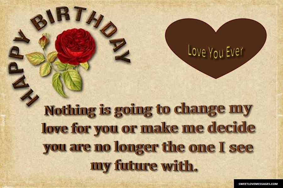 Happy Birthday My Love Letters