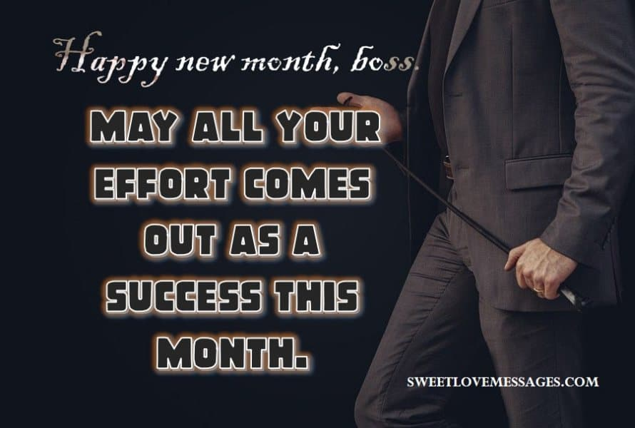 Happy New Month Prayers to My Boss