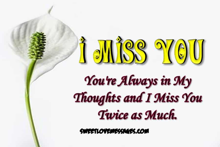 Missing and Thinking of You Love Letters