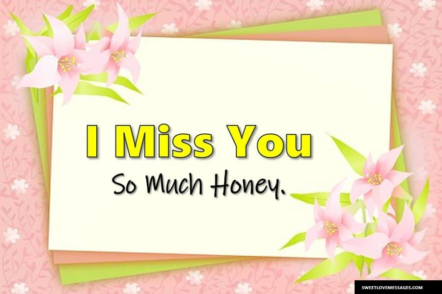 Romantic Missing You Sms