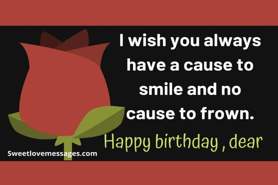 Birthday Wishes for Crush Female