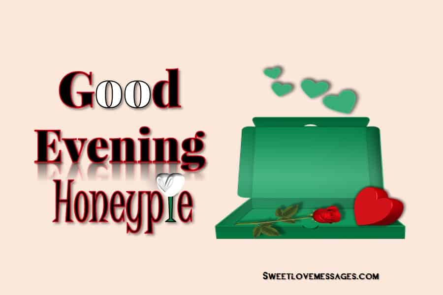 Sweet Good Evening Message for Wife