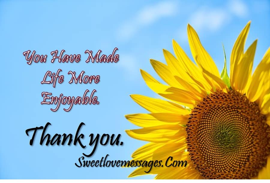 Thank You My Love Messages