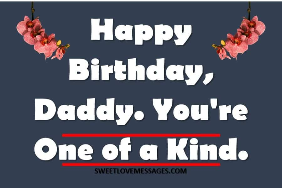 Birthday Message for Father from Daughter