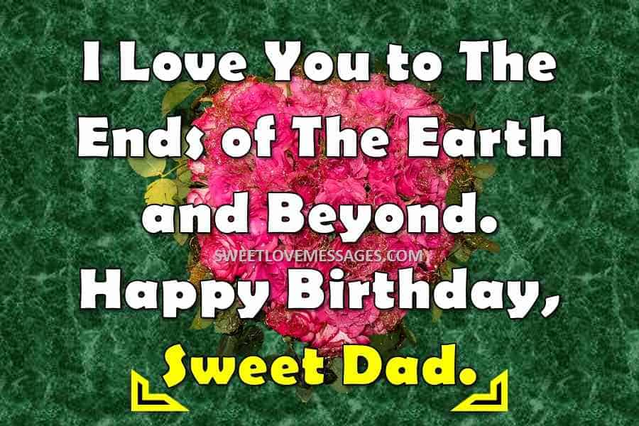 Birthday Message for Father from Son