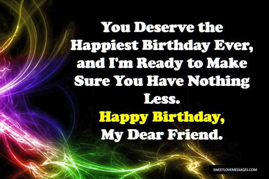 Special Birthday Messages for Friend