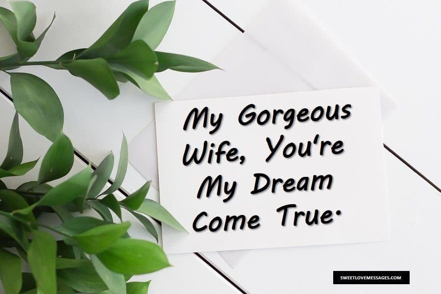 Sweet Love Letter to My Wife
