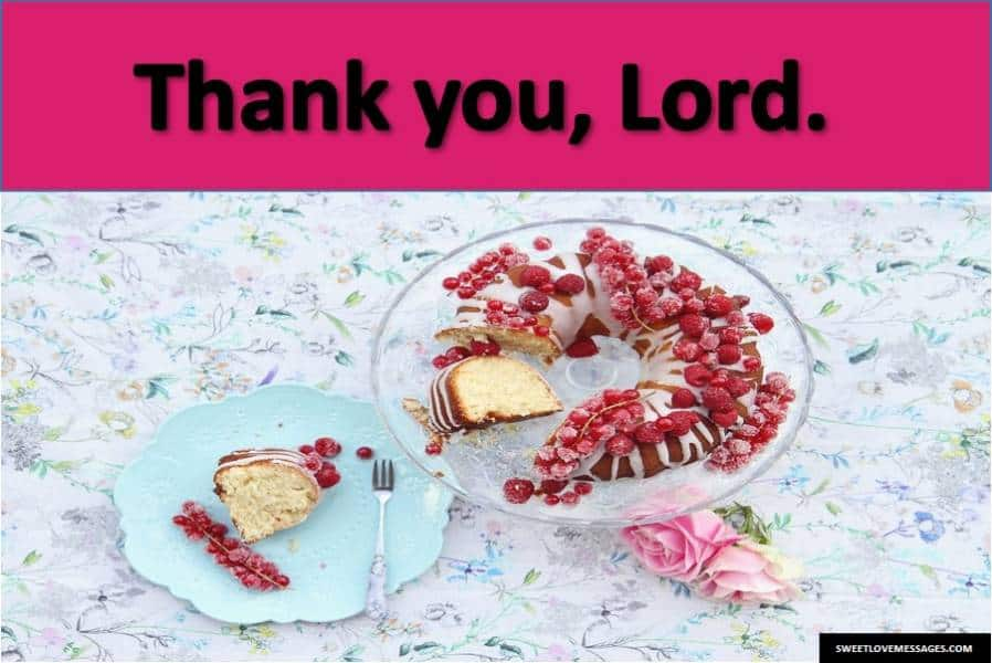 Thank You God for My Birthday
