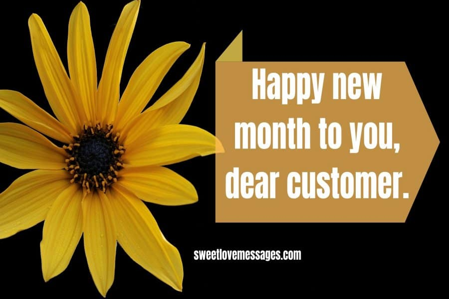 Happy New Month Message from a Company