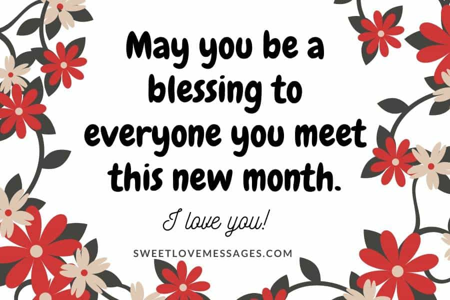 Happy New Month Message to My Wife