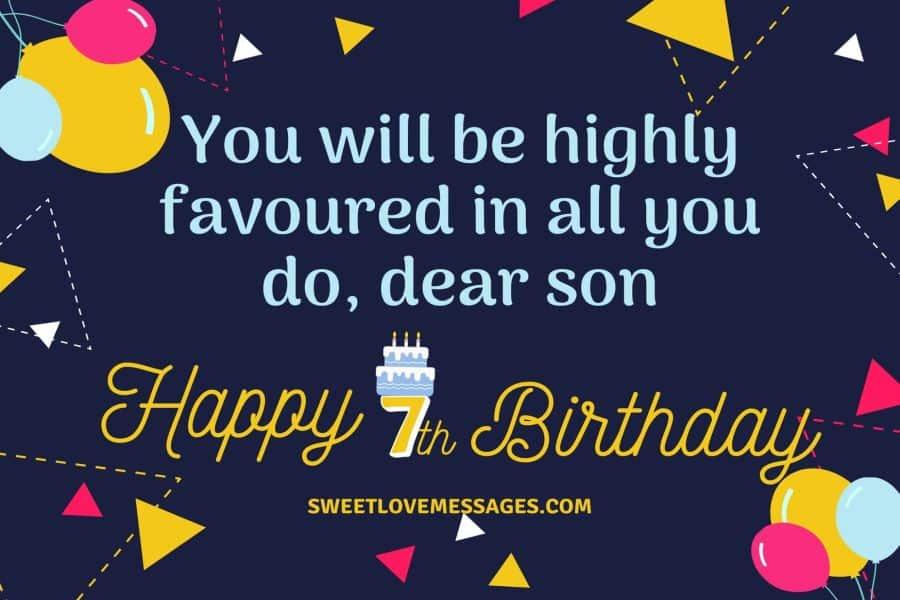 7th Birthday Prayer for Son