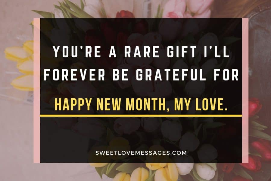 Happy New Month Messages for Him