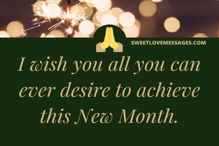 New Month Wishes and Prayers