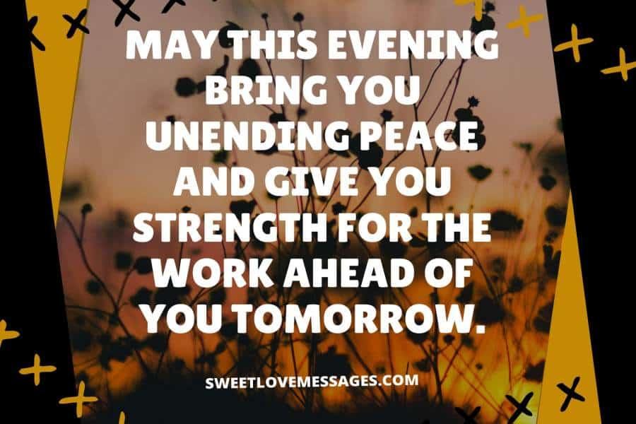 Sweet Good Evening Message to a Friend
