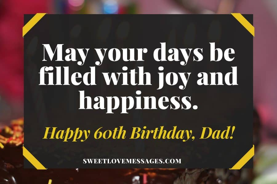 60th birthday Wishes for dad from daughter