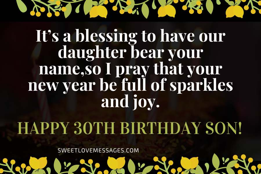 Birthday Wishes for Son in Law Turning 30 in 2020